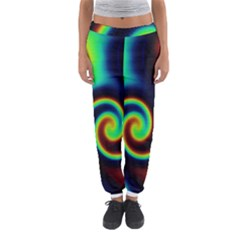 Background Colorful Vortex In Structure Women s Jogger Sweatpants