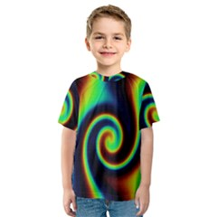 Background Colorful Vortex In Structure Kids  Sport Mesh Tee