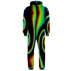 Background Colorful Vortex In Structure Hooded Jumpsuit (men)