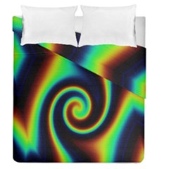 Background Colorful Vortex In Structure Duvet Cover Double Side (queen Size)