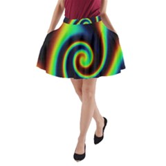 Background Colorful Vortex In Structure A Line Pocket Skirt