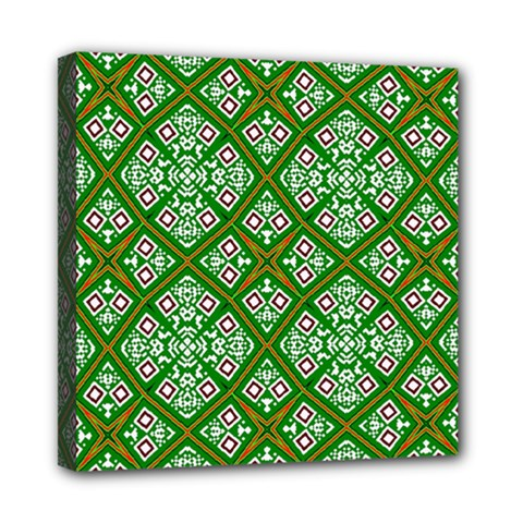 Digital Computer Graphic Seamless Geometric Ornament Mini Canvas 8  X 8