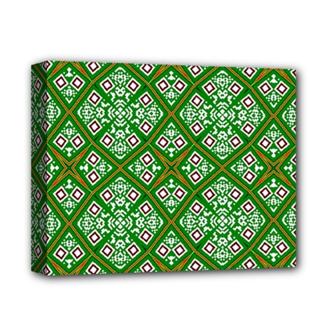 Digital Computer Graphic Seamless Geometric Ornament Deluxe Canvas 14  x 11