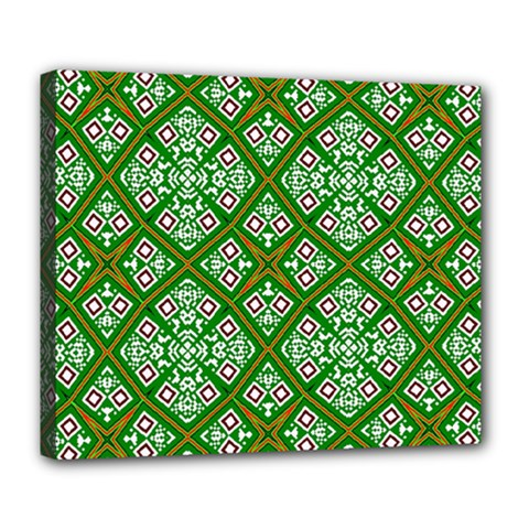 Digital Computer Graphic Seamless Geometric Ornament Deluxe Canvas 24  x 20