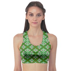 Digital Computer Graphic Seamless Geometric Ornament Sports Bra