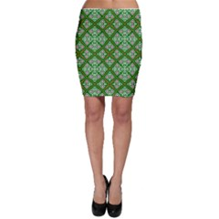 Digital Computer Graphic Seamless Geometric Ornament Bodycon Skirt