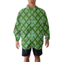 Digital Computer Graphic Seamless Geometric Ornament Wind Breaker (kids)