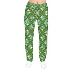 Digital Computer Graphic Seamless Geometric Ornament Drawstring Pants