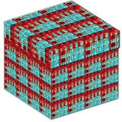 Architectural Abstract Pattern Storage Stool 12