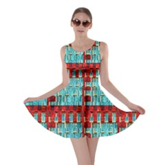 Architectural Abstract Pattern Skater Dress