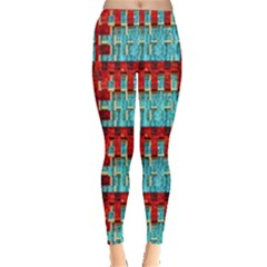 Architectural Abstract Pattern Leggings