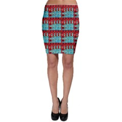 Architectural Abstract Pattern Bodycon Skirt