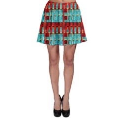 Architectural Abstract Pattern Skater Skirt