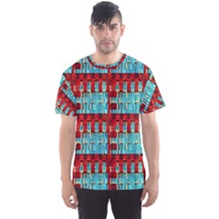 Architectural Abstract Pattern Men s Sport Mesh Tee