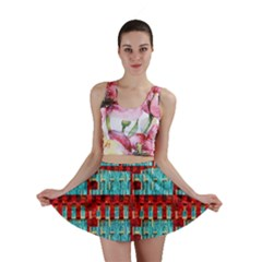 Architectural Abstract Pattern Mini Skirt