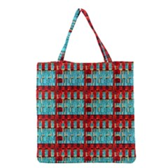Architectural Abstract Pattern Grocery Tote Bag