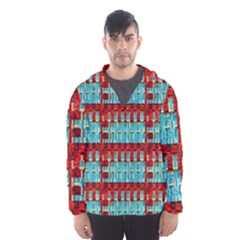 Architectural Abstract Pattern Hooded Wind Breaker (men)