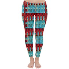 Architectural Abstract Pattern Classic Winter Leggings