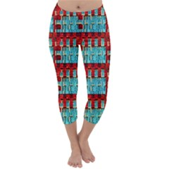 Architectural Abstract Pattern Capri Winter Leggings