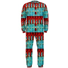 Architectural Abstract Pattern Onepiece Jumpsuit (men)