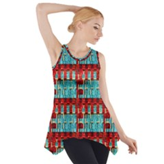 Architectural Abstract Pattern Side Drop Tank Tunic
