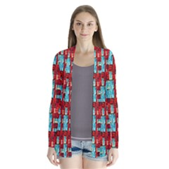 Architectural Abstract Pattern Cardigans