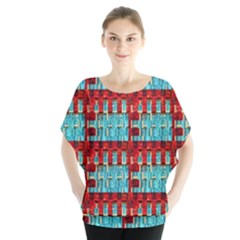 Architectural Abstract Pattern Blouse