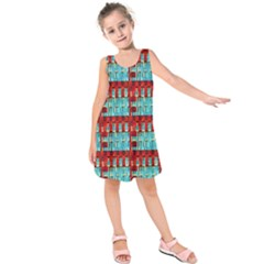 Architectural Abstract Pattern Kids  Sleeveless Dress