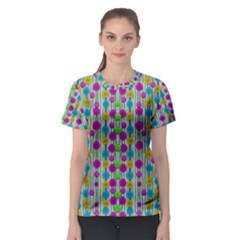 Wood And Flower Trees With Smiles Of Gold Women s Sport Mesh Tee