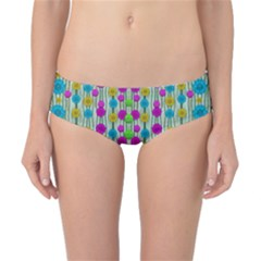 Wood And Flower Trees With Smiles Of Gold Classic Bikini Bottoms