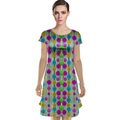 Wood And Flower Trees With Smiles Of Gold Cap Sleeve Nightdress