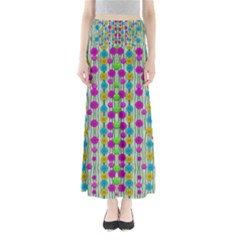 Wood And Flower Trees With Smiles Of Gold Maxi Skirts