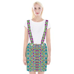 Wood And Flower Trees With Smiles Of Gold Suspender Skirt