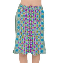 Wood And Flower Trees With Smiles Of Gold Mermaid Skirt