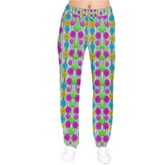 Wood And Flower Trees With Smiles Of Gold Drawstring Pants