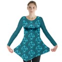 Mystic Teal Pagan Pentacle Wiccan Long Sleeve Tunic  View1