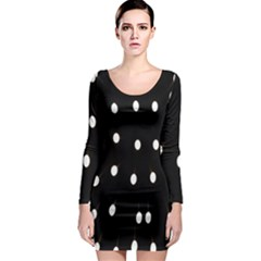 Lamps Abstract Lamps Hanging From The Ceiling Long Sleeve Bodycon Dress