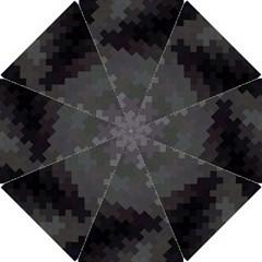Abstract Pattern Moving Transverse Hook Handle Umbrellas (Small)