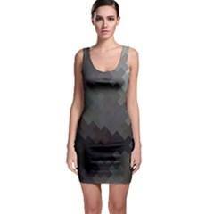 Abstract Pattern Moving Transverse Sleeveless Bodycon Dress
