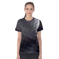 Abstract Pattern Moving Transverse Women s Cotton Tee