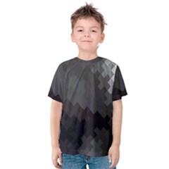 Abstract Pattern Moving Transverse Kids  Cotton Tee