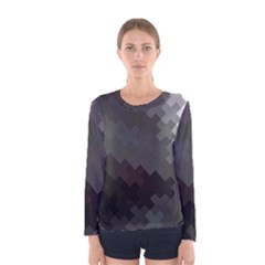 Abstract Pattern Moving Transverse Women s Long Sleeve Tee