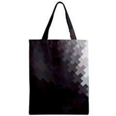 Abstract Pattern Moving Transverse Zipper Classic Tote Bag