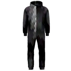 Abstract Pattern Moving Transverse Hooded Jumpsuit (men)