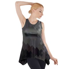 Abstract Pattern Moving Transverse Side Drop Tank Tunic