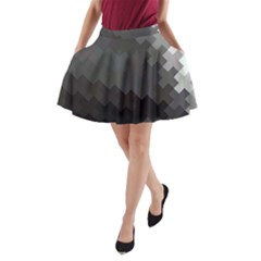 Abstract Pattern Moving Transverse A Line Pocket Skirt