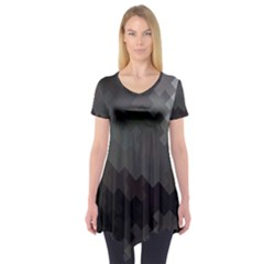 Abstract Pattern Moving Transverse Short Sleeve Tunic