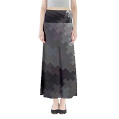 Abstract Pattern Moving Transverse Maxi Skirts