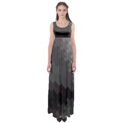 Abstract Pattern Moving Transverse Empire Waist Maxi Dress