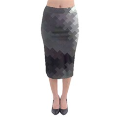 Abstract Pattern Moving Transverse Midi Pencil Skirt